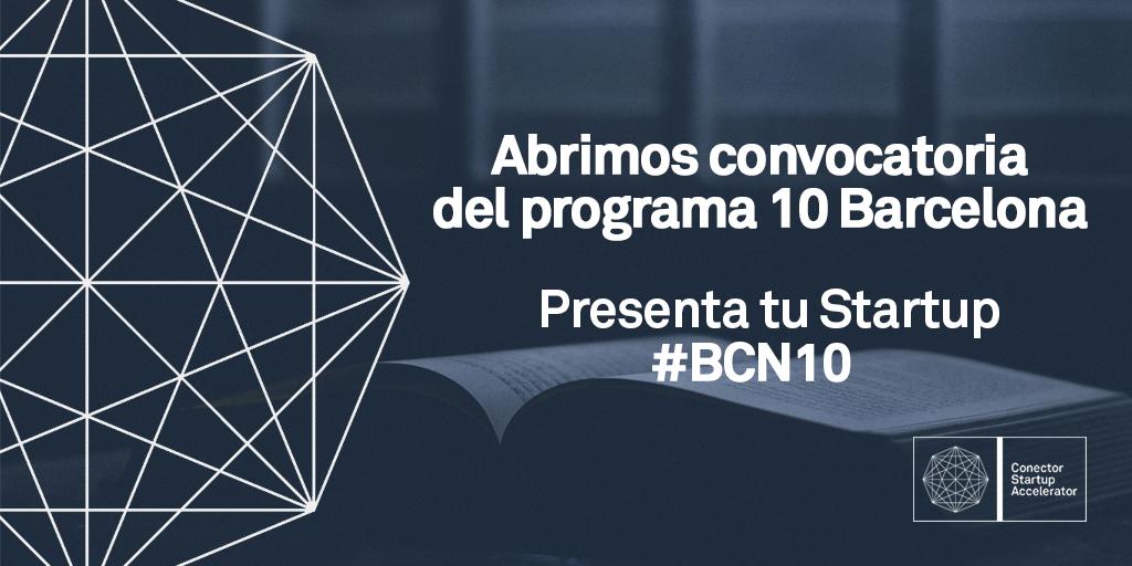 Programa 10 de aceleración en Conector Barcelona